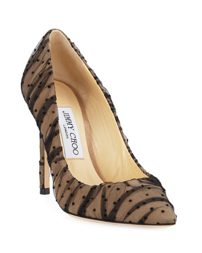 Romy Ruched Tulle Pumps