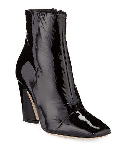 Mirren Shiny 85mm Booties, Black
