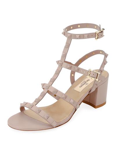 68756c0f8653 Rockstud Smooth Slide Sandals Quick Look. Valentino Garavani