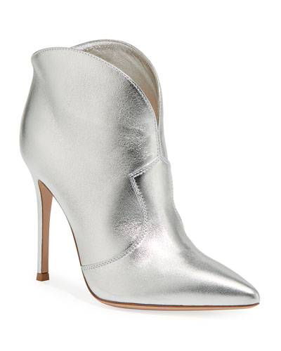 Metallic Western Booties