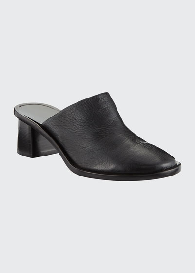 Teatime Leather Clog Mules
