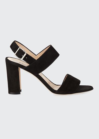 Khan Suede 90mm Sandals