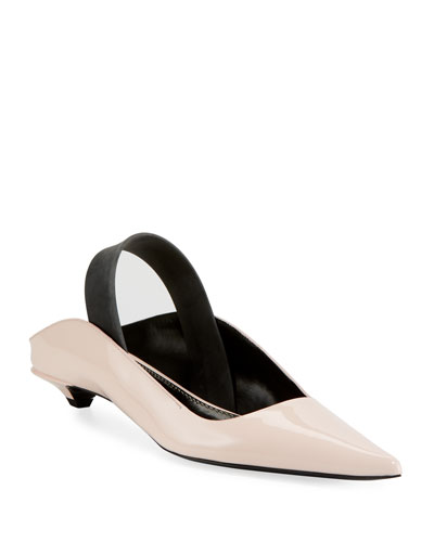 Leather Mules with Latex Strap