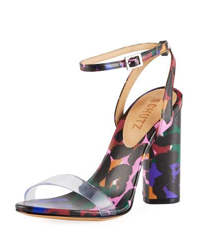 Quelen Printed Strappy Sandals