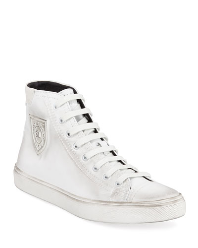Bedford Leather Lace-Up Sneakers