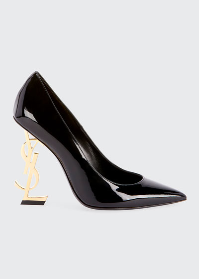 89c7c1e5df5 Ysl Patent Leather Shoes. OpYum Patent 110mm YSL-Heel Pumps - Golden  Hardware