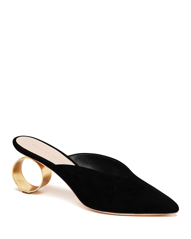 Women'S Juno Pointed Toe Round Heel Mules in Black