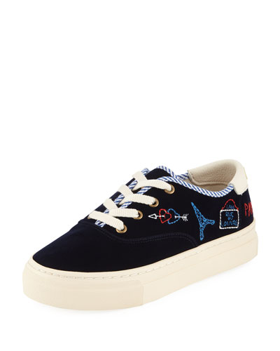 Paris Velvet Platform Sneakers