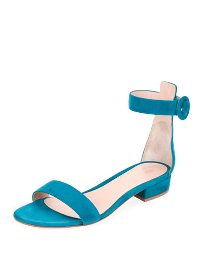 Portofino Suede Ankle-Wrap 20mm Sandals