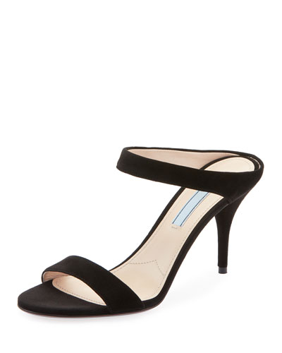 e717d25005c Suede Two-Strap Slide Sandals Quick Look. Prada