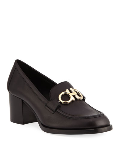 Rolo Loafer Pumps with Reversible Gancini Bit