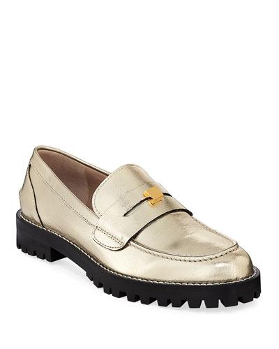 Penley Metallic Lugged Loafers