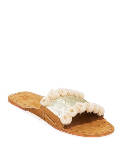 Noona Sequin Slide Sandals