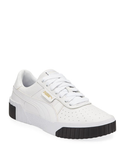 Cali Low-Top Pebbled Leather Sneakers