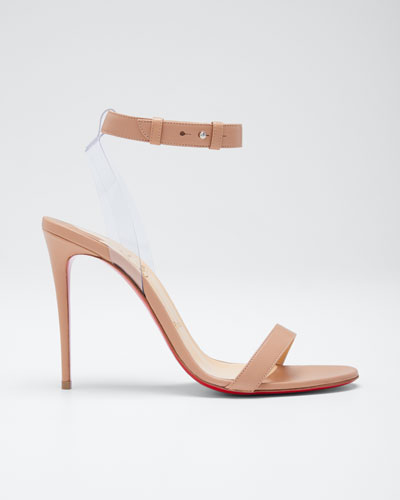 e31fc58b52a2 Christian Louboutin Ankle Strap Shoes. Jonatina Illusion Ankle-Strap Red  Sole Sandals Quick Look