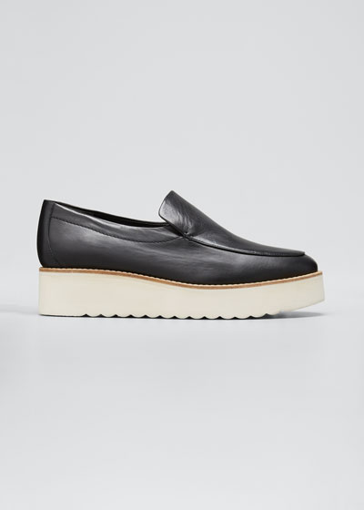 Zeta Leather Platform Loafers