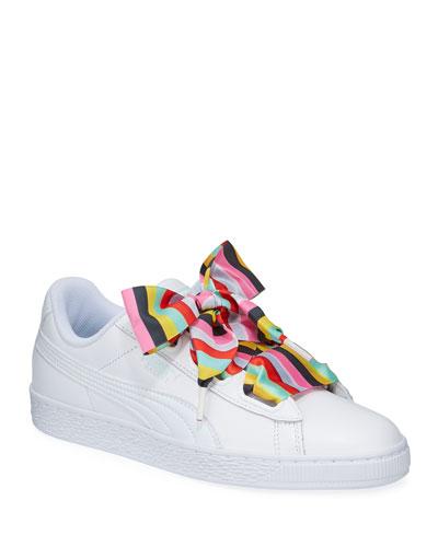 Basket Heart Gen Hustle Leather Sneakers
