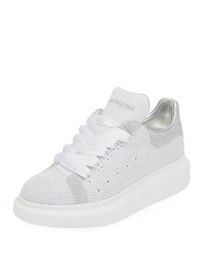 5dcf64580917 Knit and Leather Trainer Sneakers Quick Look. Alexander McQueen