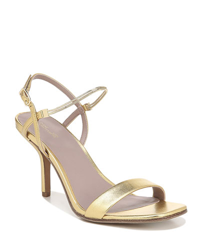 Frankie Metallic Slingback Sandals
