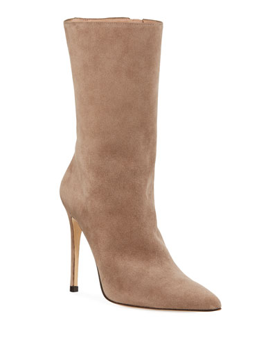 b0a38c3f9e7 Cuba Suede Pointed-Toe Booties