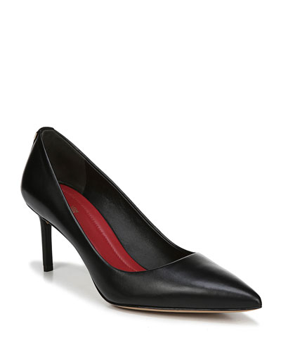 Ines Leather Pointed Pumps