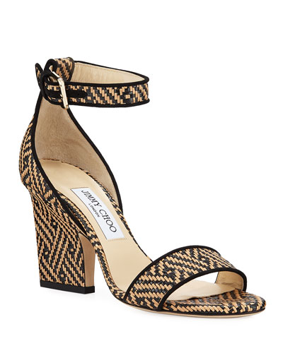 65de8f588f0 Edina Woven Ankle-Strap Sandals Quick Look. Jimmy Choo