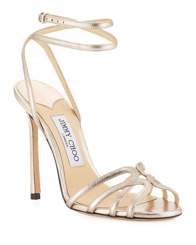 Mimi Metallic Leather Sandals