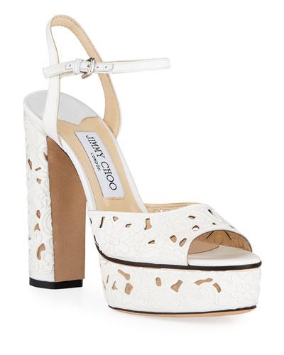 Peachy Cutout Platform Sandals