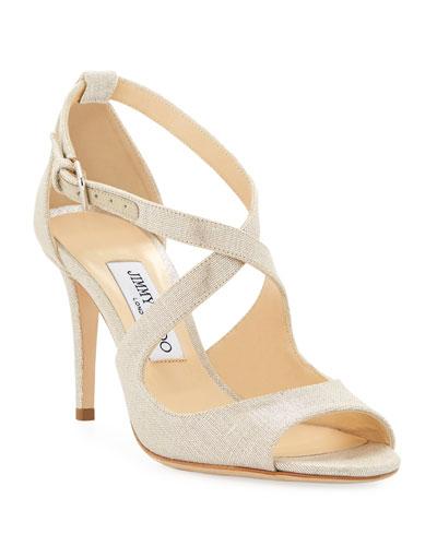 Emily Metallic Woven Sandals