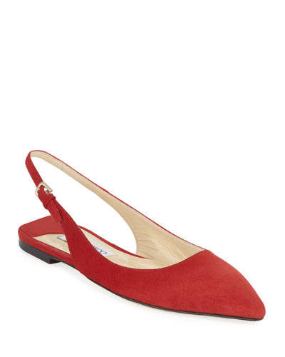 Erin Slingback Suede Flats