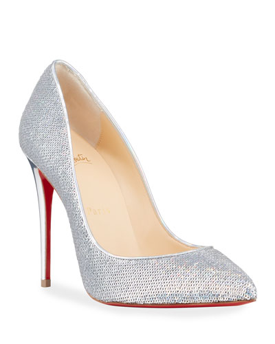 Pigalle Follies Sequined Red Sole Pumps