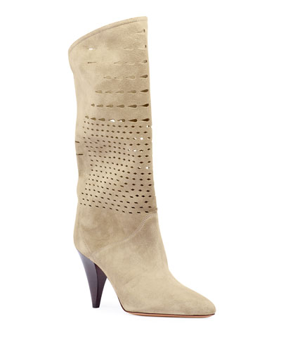 Lurrey Cutout Suede Knee Boots