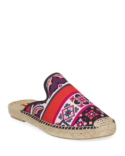 Lupe Hermes Flat Espadrille Mules