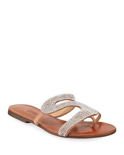 Noemi Embellished Flat Slide Sandals