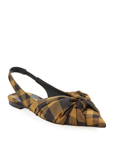 Annabell Check Slingback Pumps
