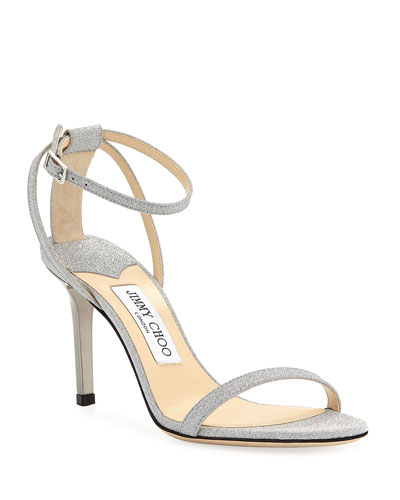 a995a529a84d Minny Glittered Ankle-Strap Sandals Quick Look. Jimmy Choo