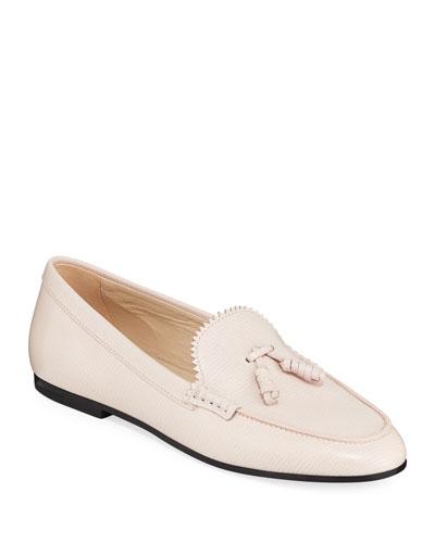 10046fee061 Textured Tassel Flat Loafers