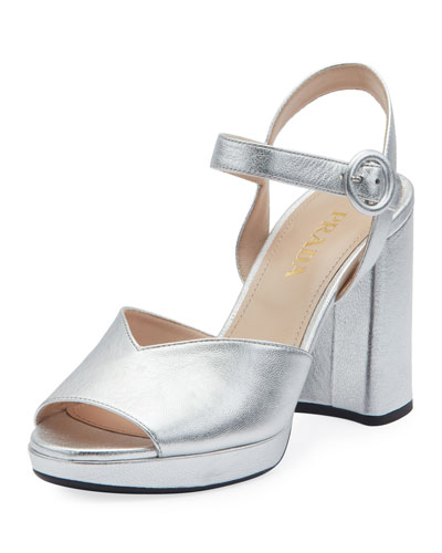 722ff6d19b6 Metallic Platform 95mm Sandals Quick Look. Prada