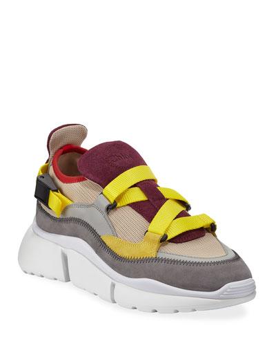 Sonnie Mixed Nylon Sneakers