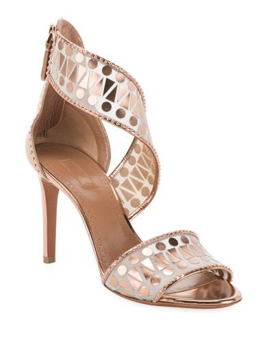 Filet Triangle Mirror Sandals