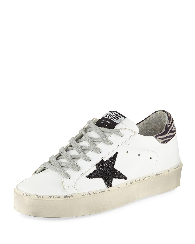 Hi Star Platform Sneakers in White/Black