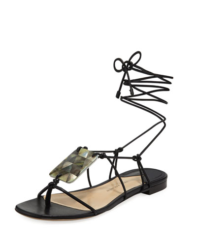 Pearl Driver Tie Sandals