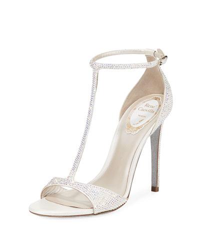 ae1b5e188 T-Strap Crystal Sandals Quick Look. Rene Caovilla