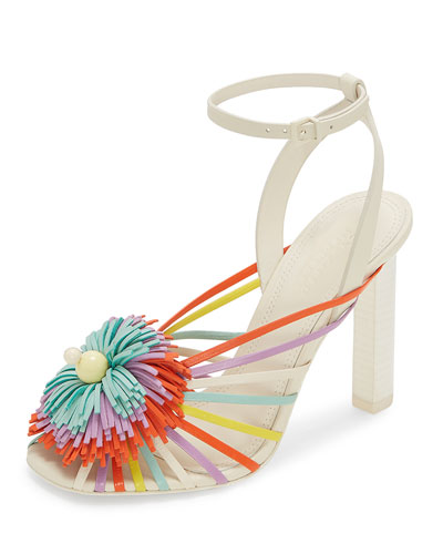 Ilma Colorblock Fringe Sandals