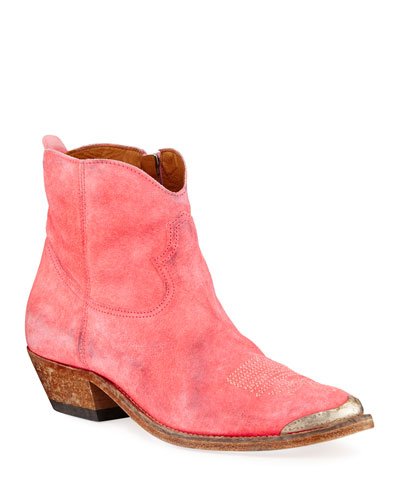 Young Distressed Leather Ankle Boots