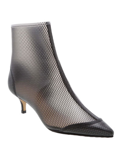 Kaylane Pointed Mesh Booties