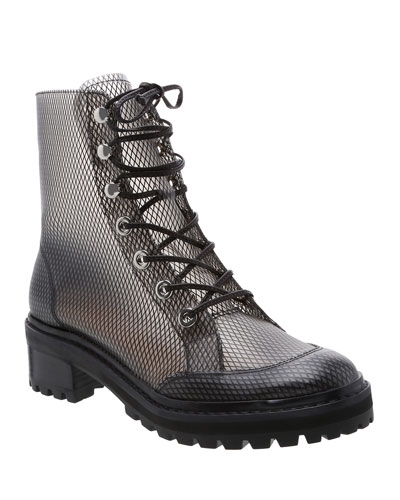 Elisangela Mesh Lace-Up Boots