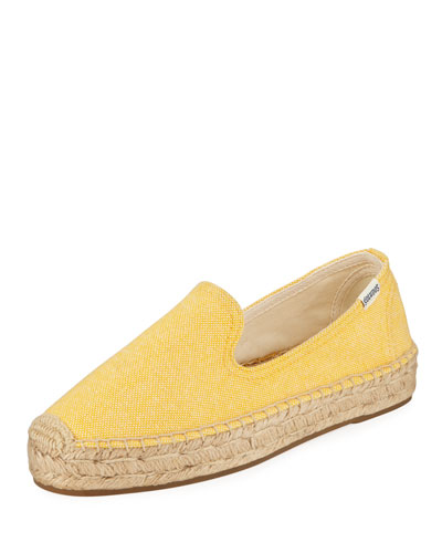 Espadrille Platform Smoking Slipper