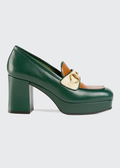Houdan 85mm Leather Loafer Pumps