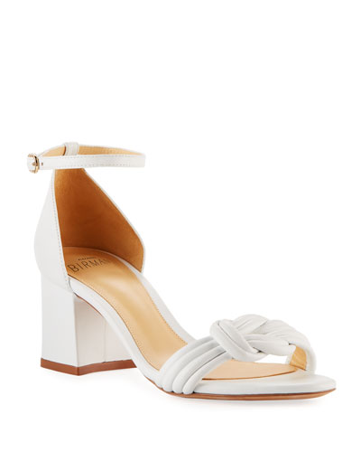 Vicky Knotted Leather Low-heel Sandals